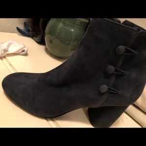 Nine West ankle boots navy blue suede  8.5